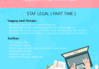 Lowongan kerja legal staff