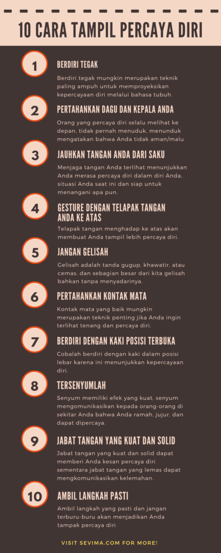 10 Cara Tampil Percaya Diri Walaupun Kamu Sebenarya Tidak Percaya Diri